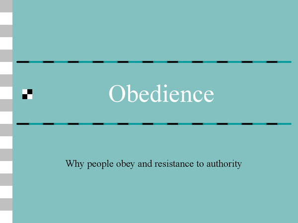 Preview of Obedience