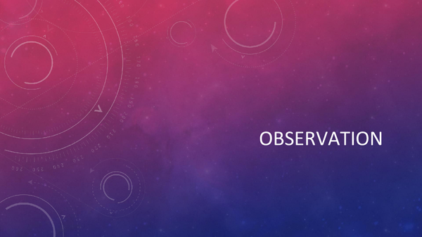 Preview of Observation