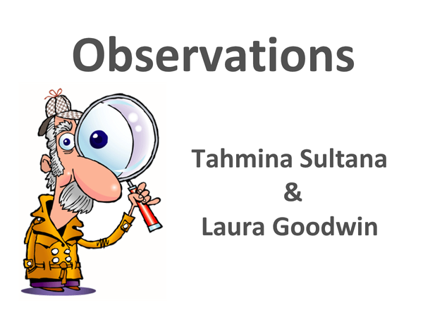 Preview of observations