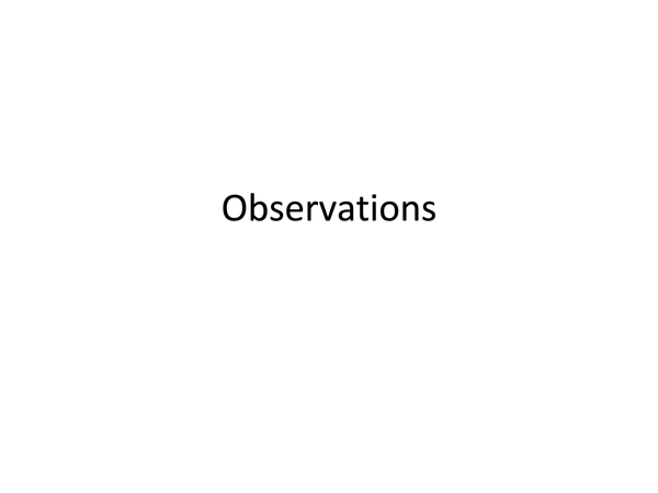 Preview of Observations: Research methods