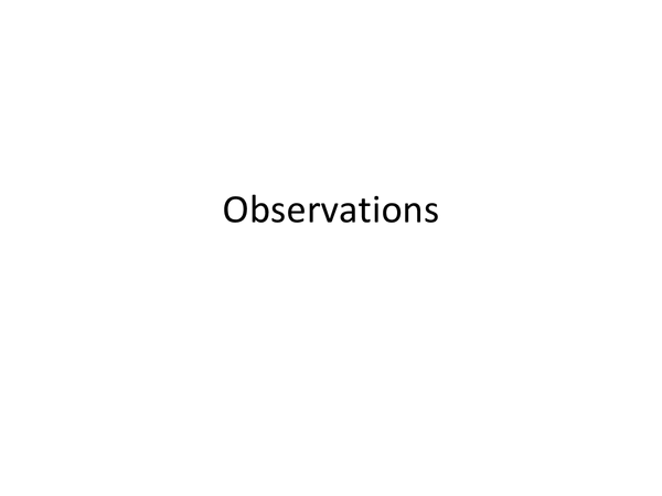 Preview of Observations- research methods