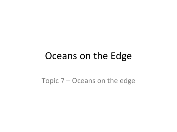 Preview of Oceans on the Edge
