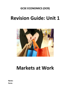 Preview of OCR GCSE Economics Revision Guide