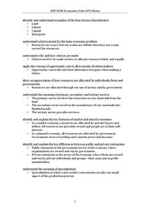 Preview of OCR GCSE Economics Unit A591 Notes