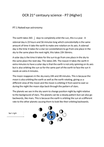 Preview of OCR 21st centaury science - P7 (Higher) P7.1 Naked eye astronomy