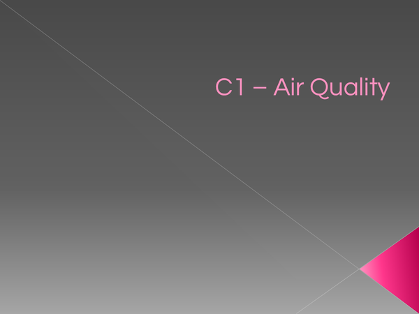 Preview of OCR 21st Century - Air Quality