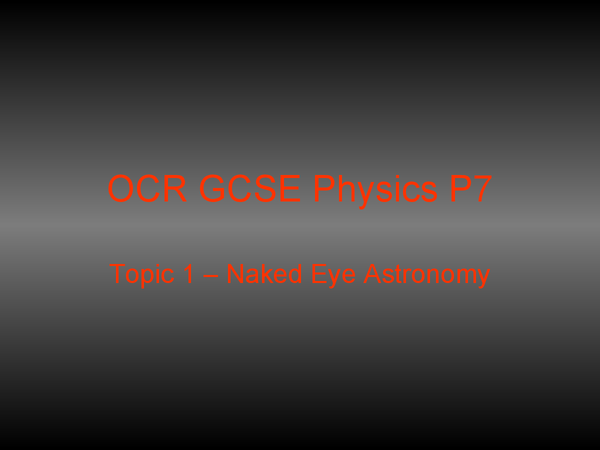 Preview of OCR 21st Century Science P7 Topic 1