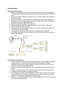 Preview of OCR A2 Biology F215, Genetic Engineering