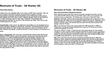 Preview of OCR A2 Contract Law - Special Studies Paper - Jan/June 2013 - Restraint of Trade 34 Marker (2)