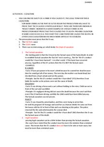 Preview of OCR A2 CRIMINAL LAW: ACTUS REUS - CAUSATION