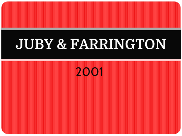 Preview of OCR A2 Forensic Study - JUBY & FARRINGTON