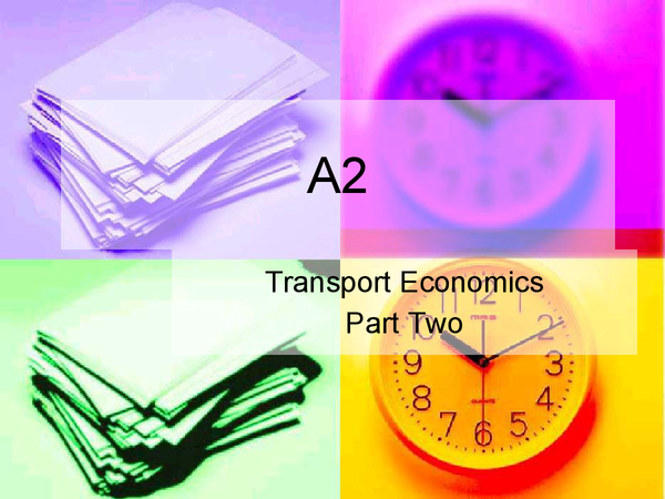Preview of OCR A2 Transport Economics (Part 2 of 3)