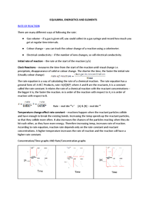 Preview of OCR A2 Unit 2 Equilibria, Energetics and Elements (F325)