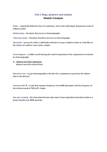 Preview of OCR A A2 Chemistry Module 3 Unit 1 Definitions
