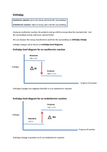 Preview of OCR AS Chemistry F331: Enthalpy