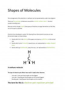 Preview of OCR AS Chemistry F331: Shapes of Molecules