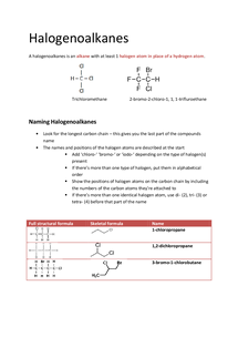 Preview of OCR AS Chemistry F332: Halogenoalkanes