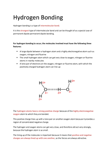 Preview of OCR AS Chemistry F332: Hydrogen Bonding
