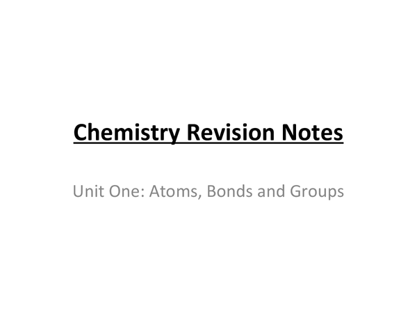 Preview of OCR AS Chemistry Revision Notes