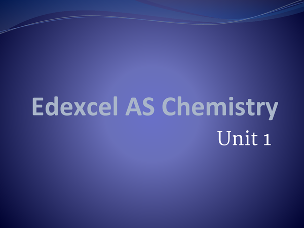 Preview of OCR AS Chemistry Units 1 and 2 Revision Flashcards