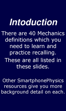 Preview of OCR AS Physics  - Mechanics and Materials definitions - smartphone physics