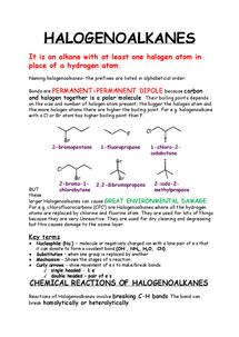 Preview of OCR B - halogenoalkanes