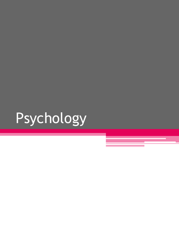 Preview of OCR - Basic Psychology