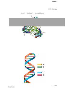 Preview of OCR Biology A - Unit 2 Module 1