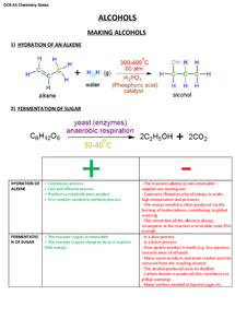 Preview of OCR AS Chemistry (F322.2) - Alcohols, Halogenoalkanes and Analysis Revision Notes