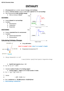 Preview of OCR AS Chemistry (F322.3) - Energy Revision Notes