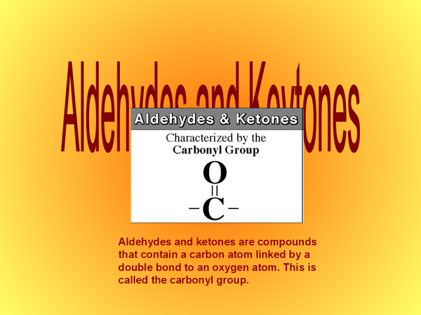 Preview of OCR Chemistry, Unit 1, Aldehydes and Keytones
