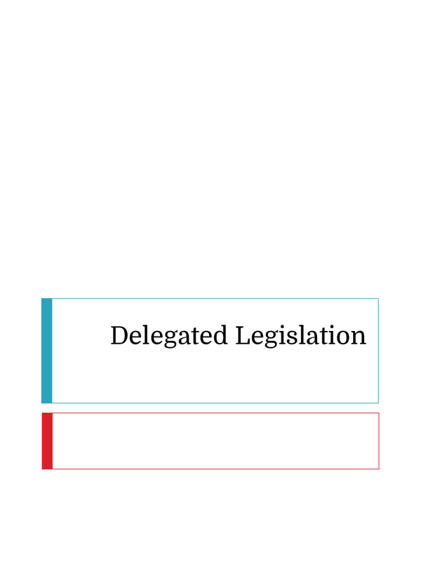 Preview of OCR - Delegated Legislation