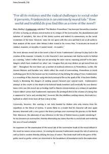 essay on frankenstein and prometheus