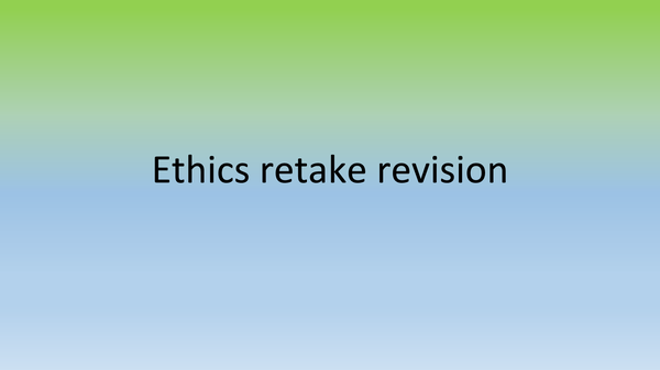 Preview of OCR ethics AS revision notes