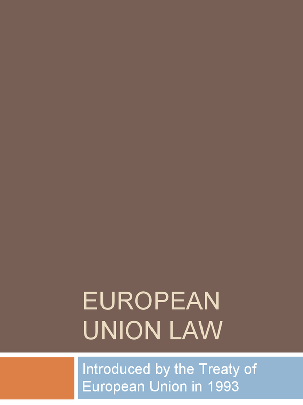 Preview of OCR - European Union Law