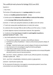Preview of OCR F211 june 11 biology mark scheme ( not official)