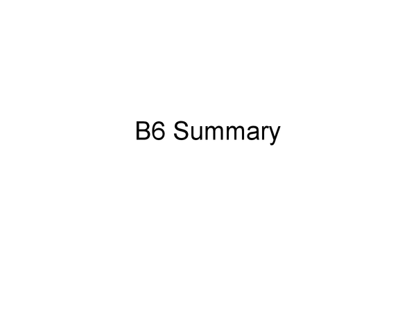 Preview of OCR gateway Biology : B6 full summary