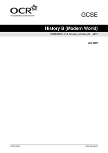 Preview of OCR GCSE History B Specification