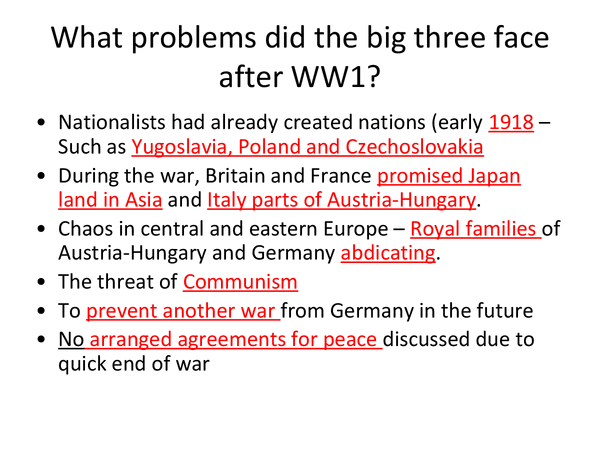 Preview of OCR GCSE History Revision Road to WW2