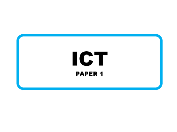 Preview of OCR GCSE Information Technology Paper 1