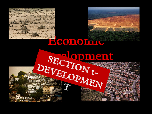 Preview of OCR Geography Spec B- Economic Development