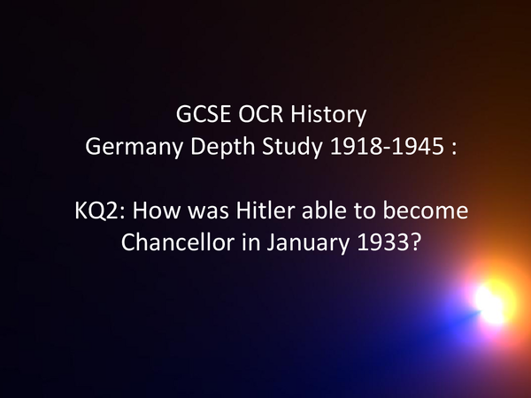 Preview of OCR History: German Depth Study KQ2