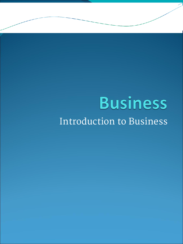 Preview of OCR - Introduction to business