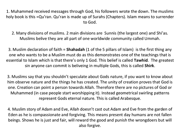 Preview of OCR Islam GCSE B577 (Beliefs and Special Days) and B578 (Worship and Community)