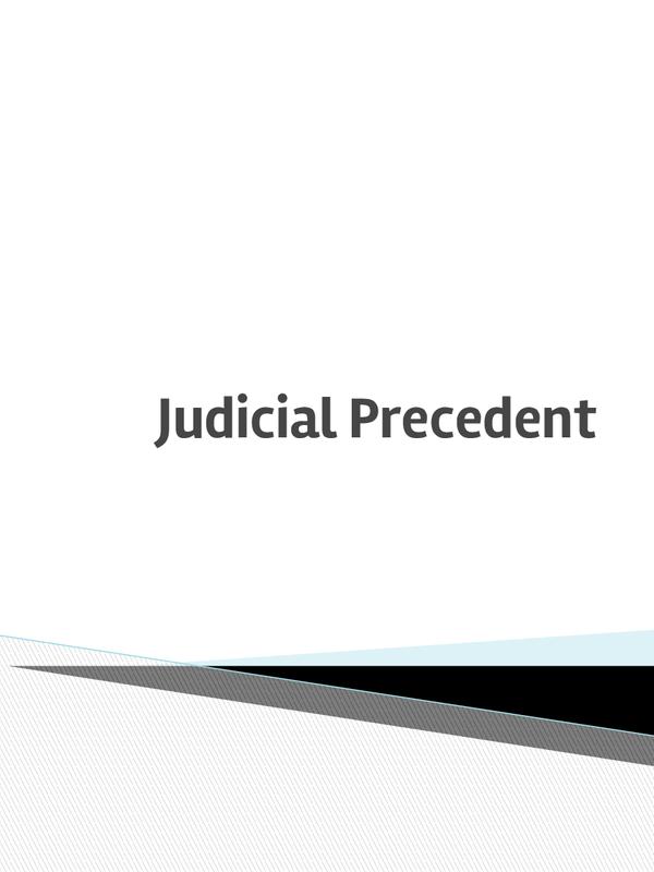 Preview of OCR- Judicial Precedent