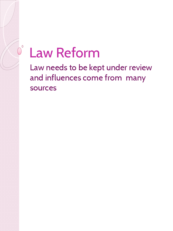 Preview of OCR - Law Reform