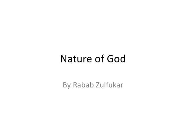 Preview of OCR Nature of God- Key quotes