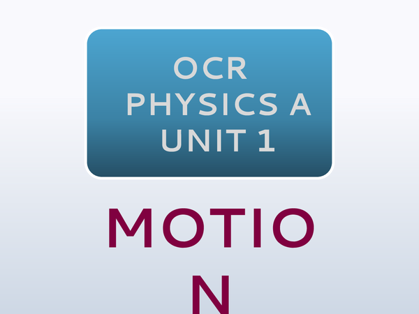 Preview of OCR Physics A: Unit 1 - Motion
