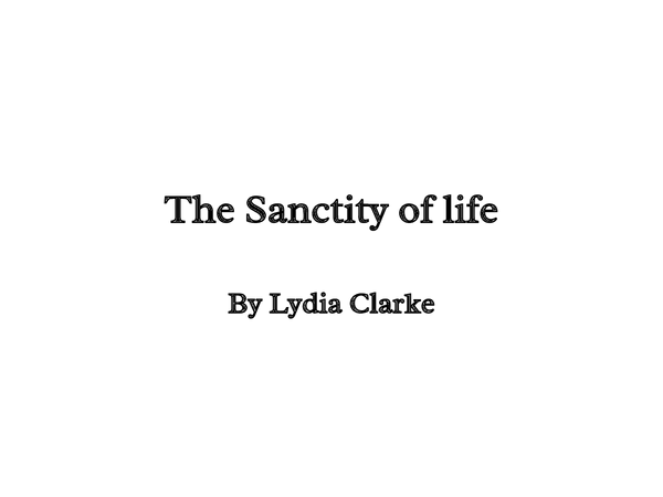 Preview of OCR Religious Ethics- Medical Ethics: The sanctity of life