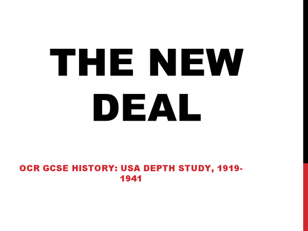 Preview of OCR The New Deal